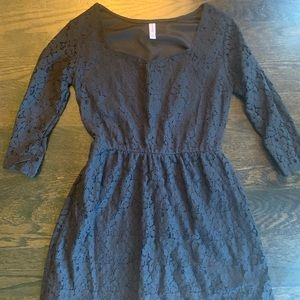 Size Small Black Lace Dress with sleeves